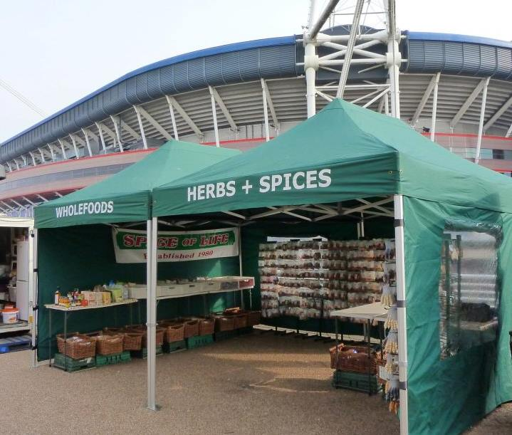 Our stall at Riverside Market. Open every Sunday (9:30am - 2pm) opposite the Millennium Stadium.